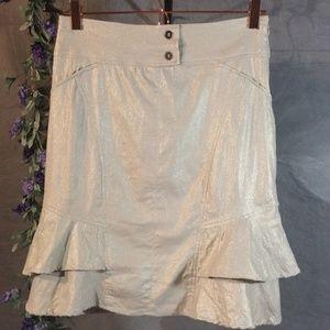 Cache Mini Skirt With Gold Undertones.